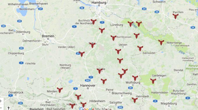 Übersicht Der Rotwild-Hegegemeinschaften In Deutschland